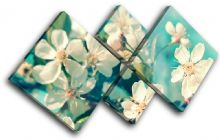 Cherry Blossom Teal Floral - 13-0334(00B)-MP19-LO